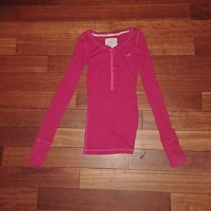 Hollister pink long sleeve t shirt NWOT